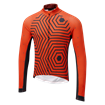 Icon Long Sleeve Jersey - Hex-Repeat Orange/Navy thumbnail