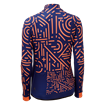 Womens Icon Long Sleeve Jersey - Tokyo Navy/Coral thumbnail
