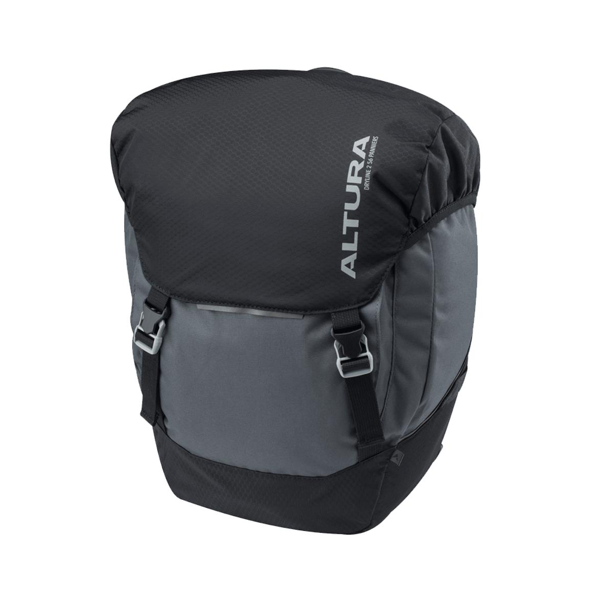 Altura Dryline 2 56L Panniers (Pair): Grey/Black
