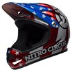 Sanction MTB Full Face Helmet Nitro Circus Gloss Silver/Blue/Red thumbnail